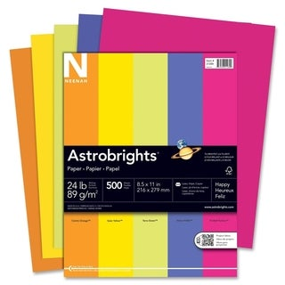Astrobrights 24lb. Assorted Colors Paper - 1 Ream