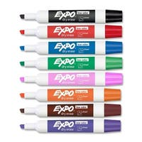 Expo II Assorted Dry Erase Chisel Point Markers 8-Pack