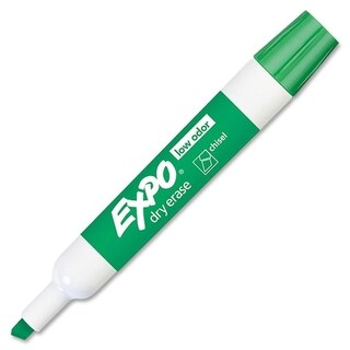 Expo Green Low-odor Dry Erase Chisel Point Markers - 1 Box