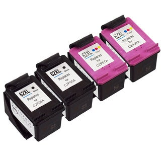 Sophia Global Remanufactured Ink Cartridge Replacement for HP 62XL (2 Black, 2 Color)