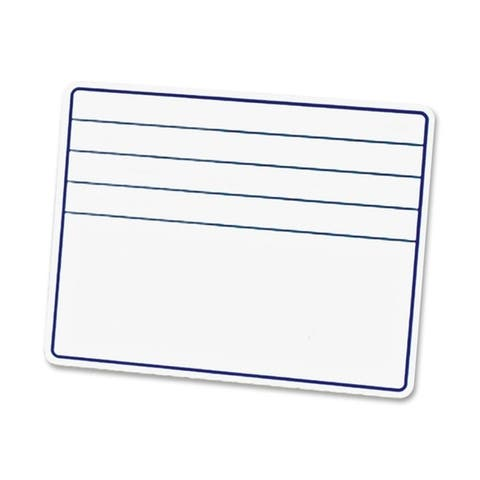 """Chenille Kraft 12""""W x 9""""H Ruled Student Dry-Erase Board with Lines"""