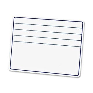 "Chenille Kraft 12""W x 9""H Ruled Student Dry-Erase Board with Lines"