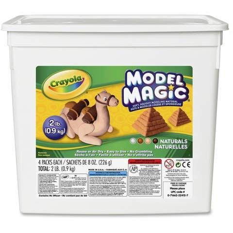 Crayola Model Magic 2 lb. Resealable Bucket - Natural Colors - 1/EA