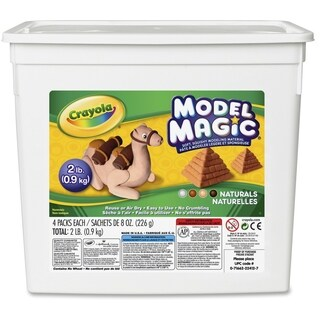 Crayola Model Magic 2 lb. Resealable Bucket - Natural Colors - 1/EA