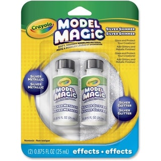 Model Magic Glossy Silver Metallic Glaze - 1 Pack