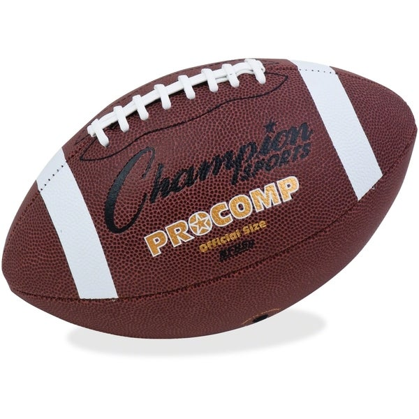 Champion Sports Pro Composite Football Official Size 22 inches Brown