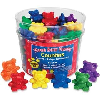 Three Bear Family Counters Rainbow Set - 96/ST