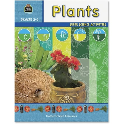Teacher Created Resources Grade 2-5 Plants Science Book Education Printed Book for Science - English - 1/EA