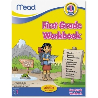 Mead First Grade Comprehensive Workbook Education Printed Book for Science/Mathematics/Social Studies - 1/EA