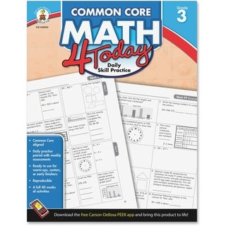 Carson-Dellosa Common Core Math 4 Today Workbook Education Printed Book for Mathematics - English - 1/EA
