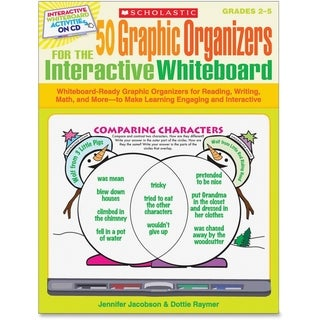 Scholastic 50 Graphic Organizers for the Interactive Whiteboard - Academic Training Course - English - 1/EA
