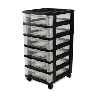 Link to IRIS Medium 6-Drawer Cart with Organizer Top, Black Similar Items in Filing Storage & Accessories