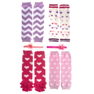 Crummy Bunny Sweetheart 6-piece Leggings and Headband Set