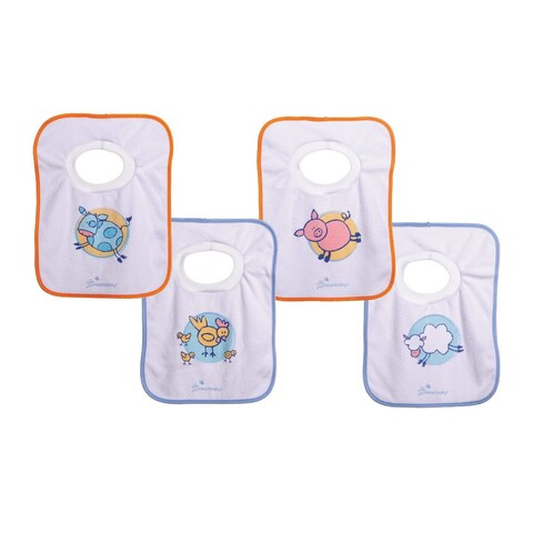 Dreambaby Farm Pull Over Bibs (Pack of 4)