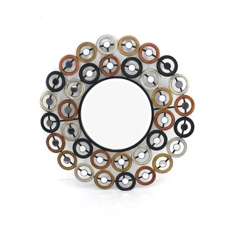 Teton Home Multi-colored Circular Metal Wall Mirror