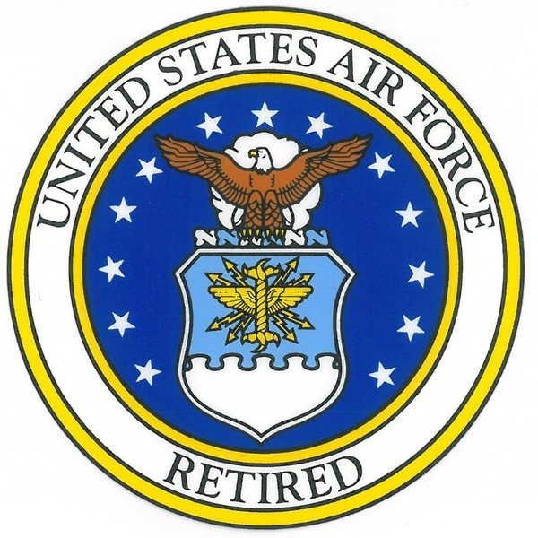 US Air Force Retired with Usaf Seal Car Decal