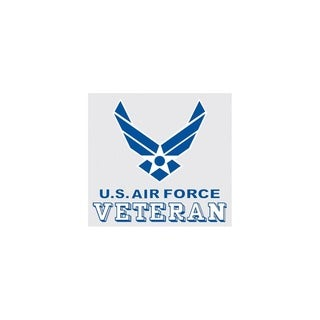 US Air Force Veteran Logo Car Decal