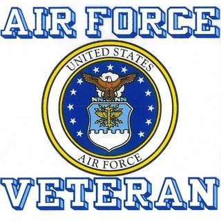 US Air Force Veteran with Usaf Seal Car Decal