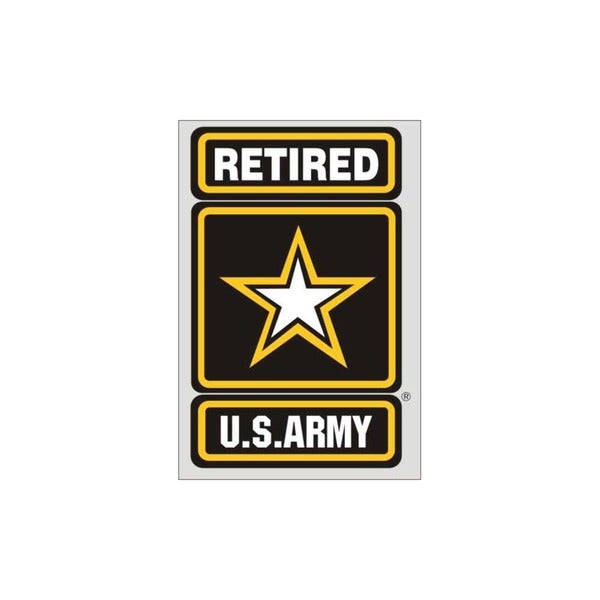US Army Retired Logo Car Decal