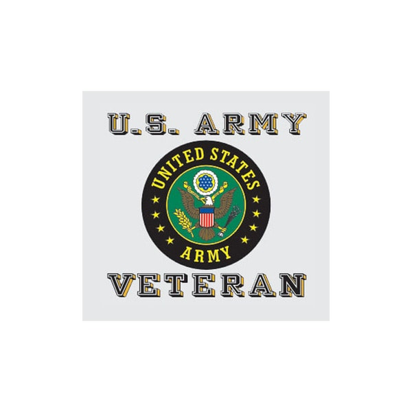 US Army Veteran with Army Seal Car Decal