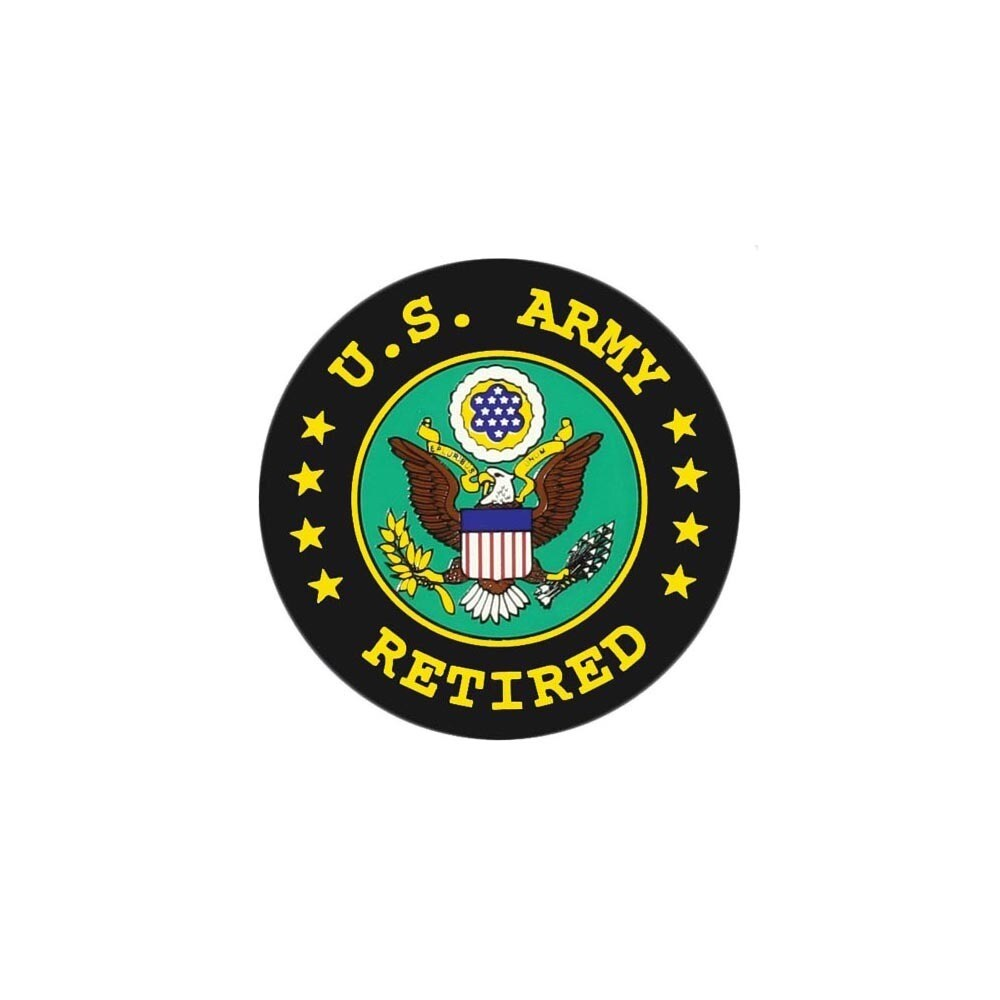 """United States Army Retired Seal Car Decal (4 1/4"""" x 4 1/4..."""