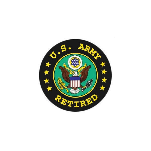 United States Army Retired Seal Car Decal