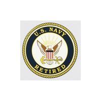 US Navy Retired Logo Car Decal