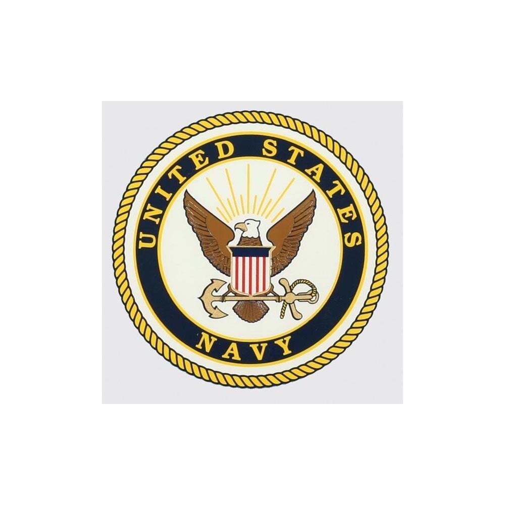 "Rothco United States Navy Logo Car Decal (4 1/4"" diameter..."