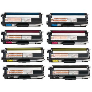8-pack Replacing Brother TN336 TN-336BK 336C 336Y 336M Black Cyan Magenta Yellow Toner Cartridge