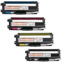 4-pack Replacing Brother TN336 TN-336BK 336C 336Y 336M Black Cyan Magenta Yellow Toner Cartridge