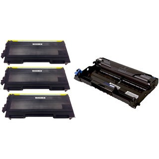 4-pack Replacing Brother 3 by TN350 Toner Cartridge Plus 1 by DR350 Drum Unit