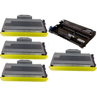 5-pack Replacing Brother 4 by TN-360 Toner Cartridge Plus 1 by DR-360 Drum Unit