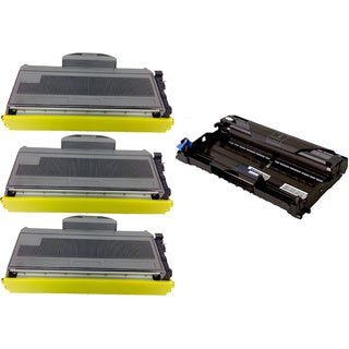 4-pack Replacing Brother 3 by TN-360 Toner Cartridge Plus 1 by DR-360 Drum Unit