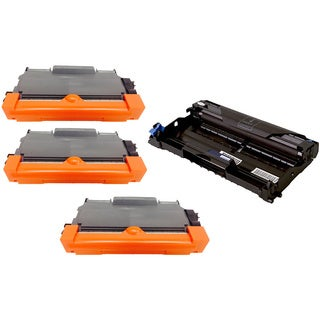 4-pack Replacing Brother 3 by TN-450 Toner Cartridge Plus 1 by DR-420 Drum Unit