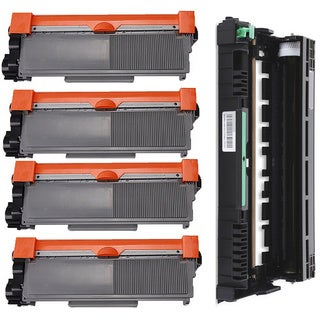 5-pack Replacing Brother 4 by TN-580 Toner Cartridge Plus 1 by DR-520 Drum Unit