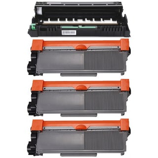 4-pack Replacing Brother 3 by TN-580 Toner Cartridge Plus 1 by DR-520 Drum Unit