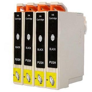 4-pack Replacing Epson 220 220XL T220120 T220XL120 Black Ink Cartridge
