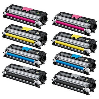 8-pack Replacing Color Set Toner Cartridge for Xerox Phaser 6121 6121MFP Series Printers