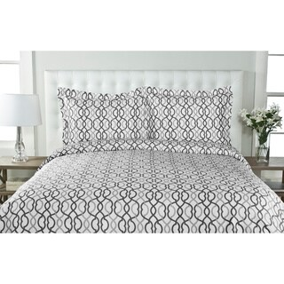 Sorelli 100-percent Cotton 3-piece Duvet Cover Set