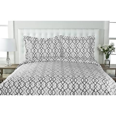 Sorelli 100-percent Cotton 3-piece Duvet Cover Set