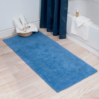 Windsor Home 100 Percent Cotton Reversible Bath Mat Runner 24 X 60