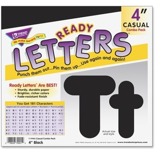 "Trend Black 4"" Casual Combo Ready Letters Set - 1/ST"