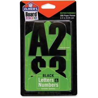 Elmer's Project Popperz Black Letters & Numbers - 300/PK