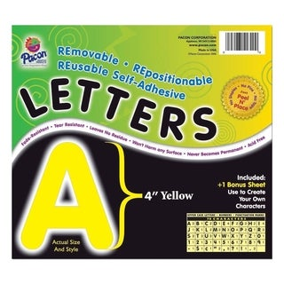 Pacon Self-Adhesive Removable Letters - 1/PK