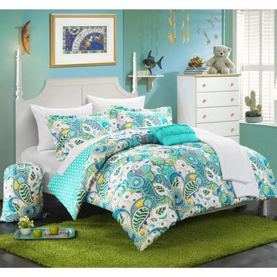 Chic Home Duchess Paisley and Polka Dot Reversible 10-piece Bed in a Bag