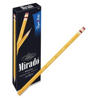 Paper Mate Mirado Classic Pencils with Eraser - 12/DZ