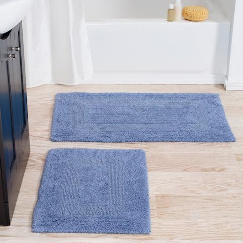 "Windsor Home 100-percent Cotton 2-piece Reversible Rug Set - 2PC (1'6"" x 2'1"", 1'10"" x 2'11"")"