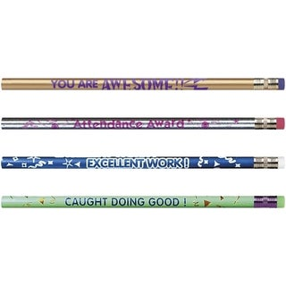 Moon Products Rose Motivational Assortmt No. 2 Pencil - 12/BX