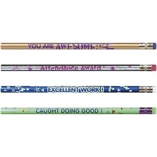 Moon Products Rose Motivational Assortmt No. 2 Pencil - 12/BX