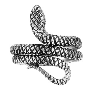 Handmade Unique Tropical Snake Coil Wrap Sterling Silver Ring (Thailand)